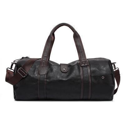 Soft Leather Shoulder Gym Bag