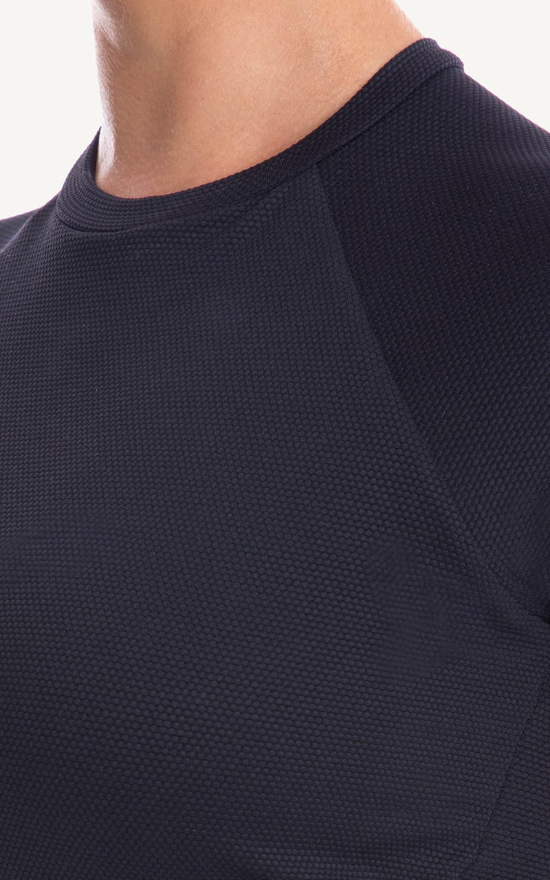 Rash top ribbed fabric