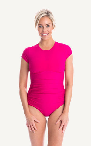 Active Luxe Cap Sleeve Rash Top