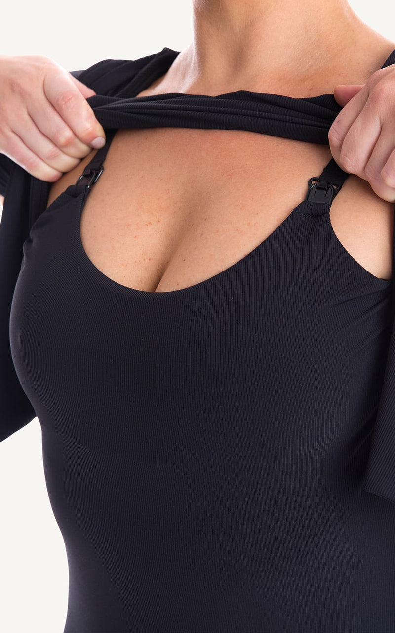 Breast Feeding Swim Suit with built in materntiy bra