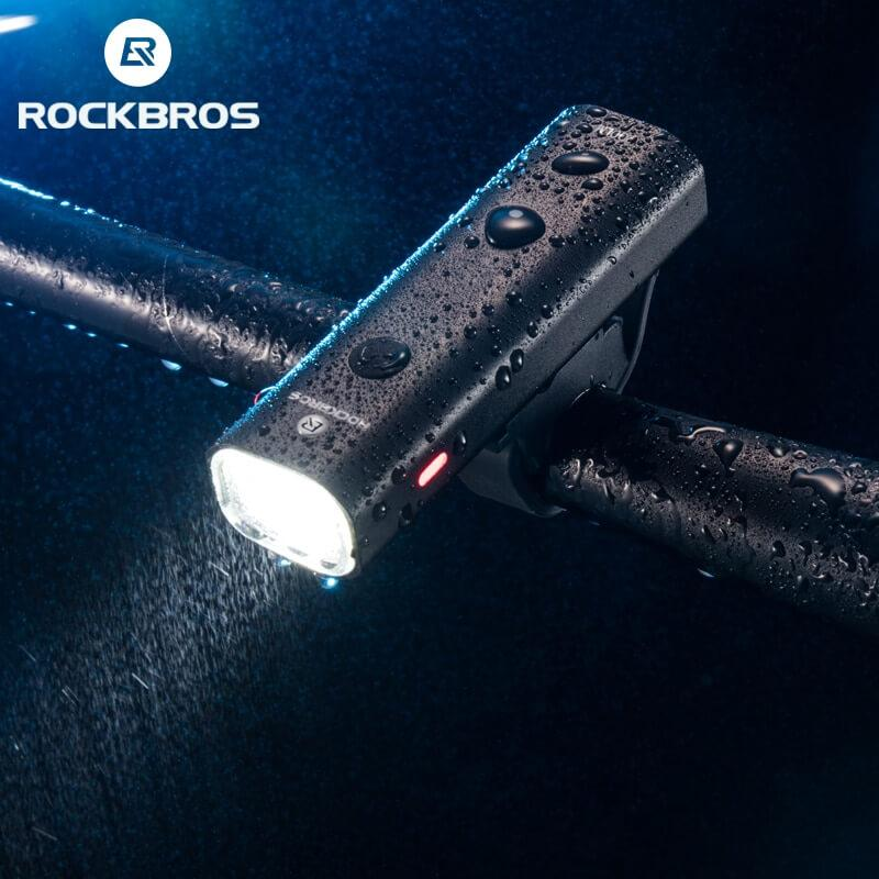 ROCKBROS Powerful LED Bicycle Headlight, Waterproof, USB Rechargeable