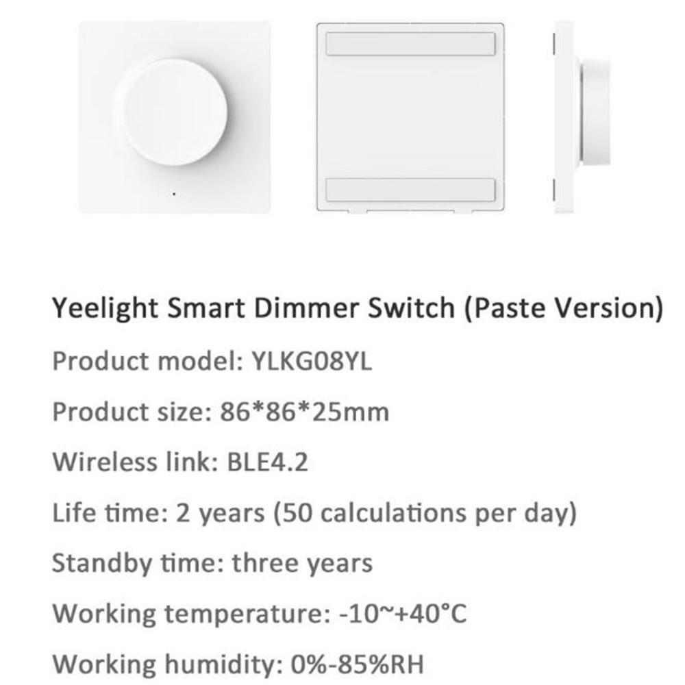Bluetooth Wall Pasted Dimmer Smart Light Switch
