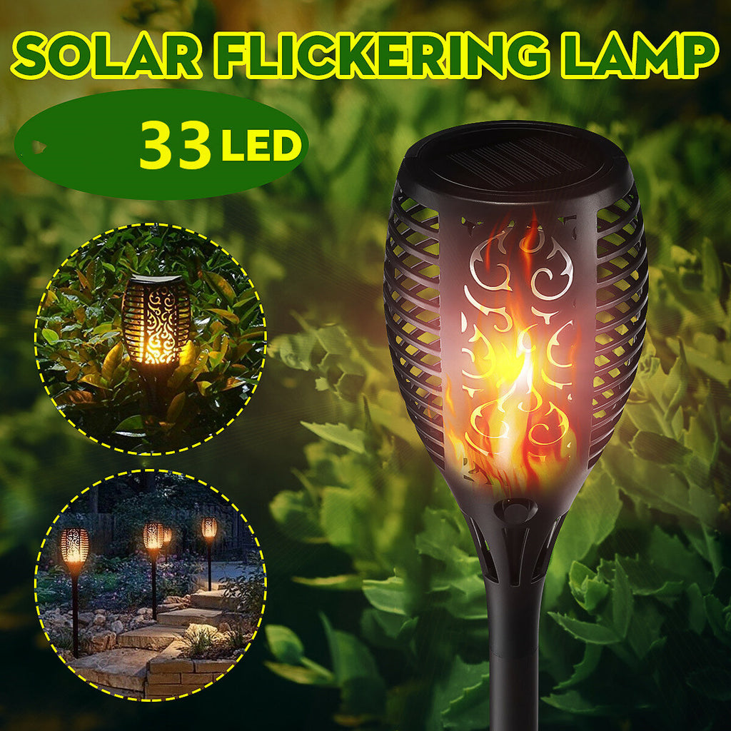 Solar Power 33 LED Torch Light