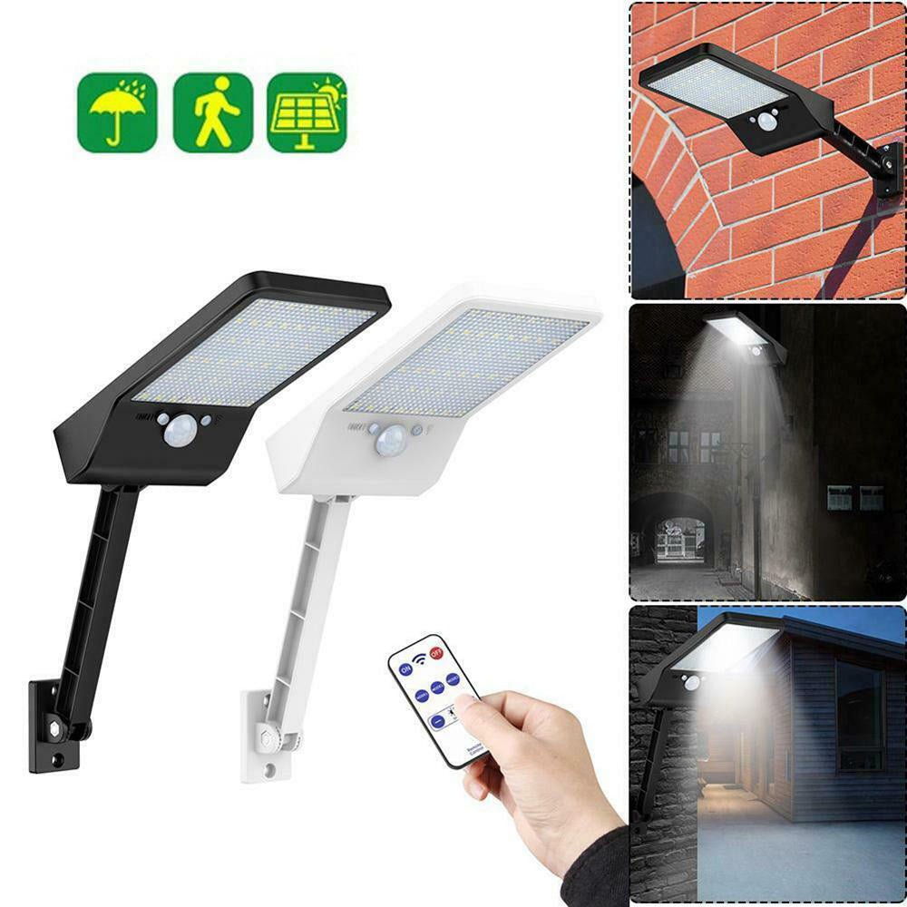 LED Solar PIR Motion Sensor Lamp Waterproof with Remote