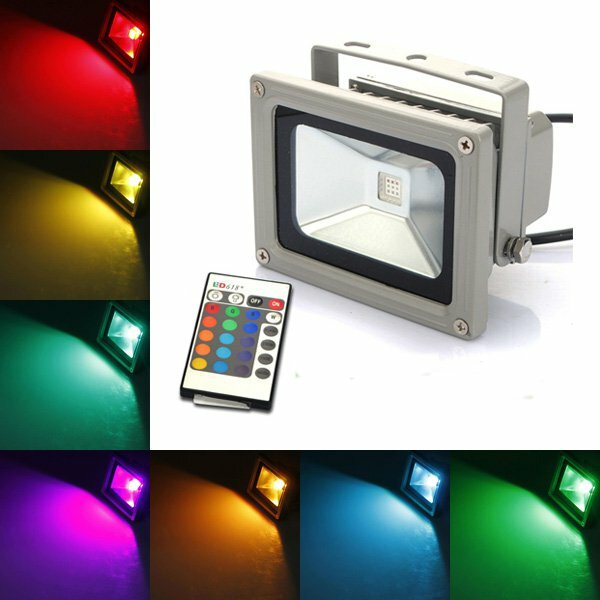 RGB Color Changing Outdooors LED Flood Light
