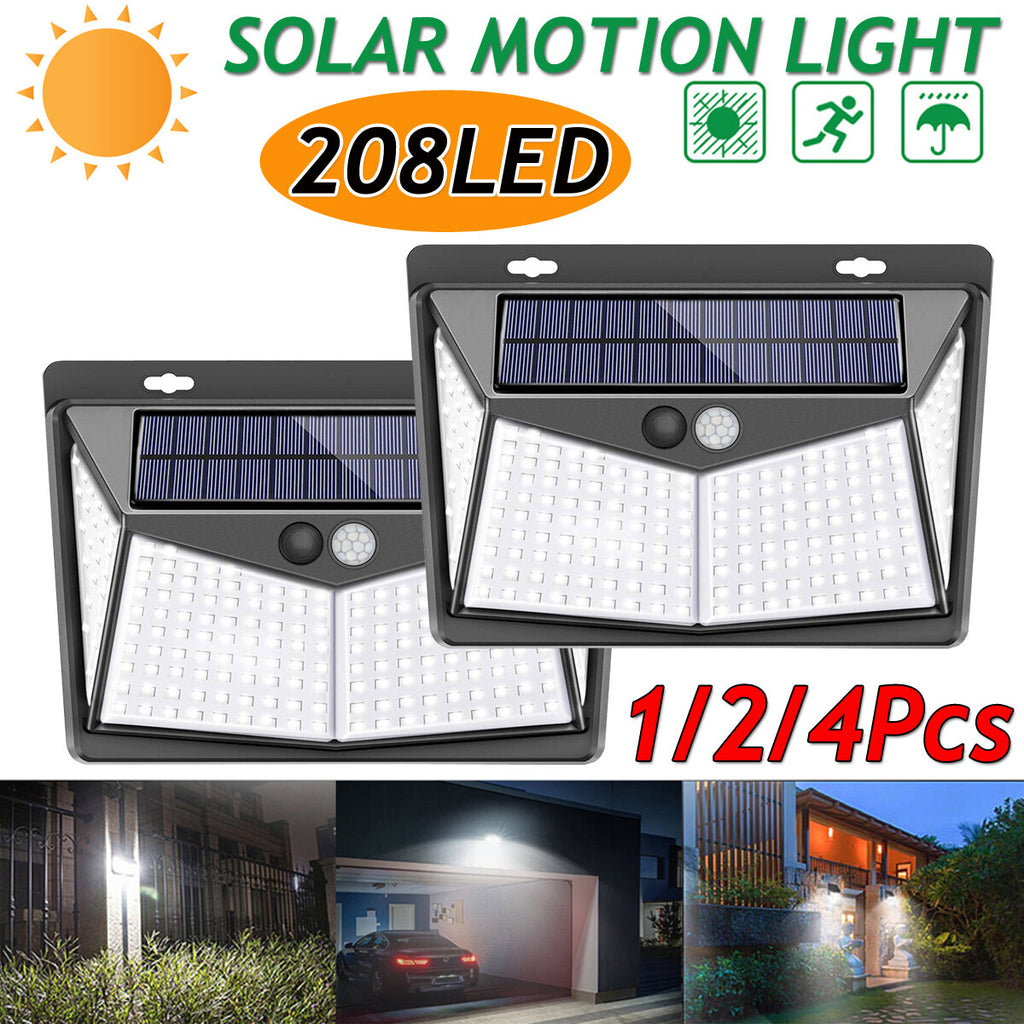 LED Solar Power PIR Motion Sensor Wall Light - lighting - Outdoor Lamp