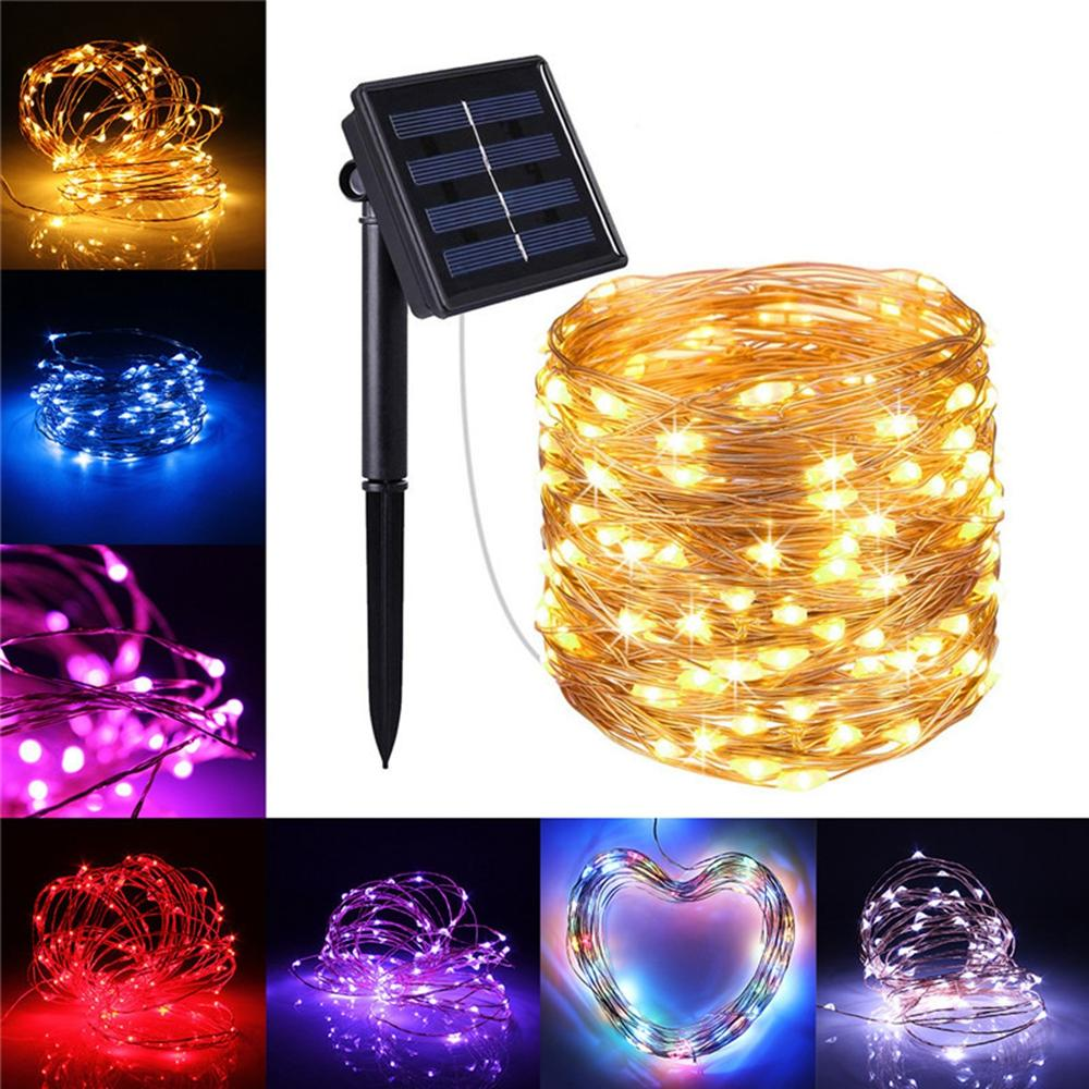 Solar Powered Fairy String Light 100LED 2 Modes