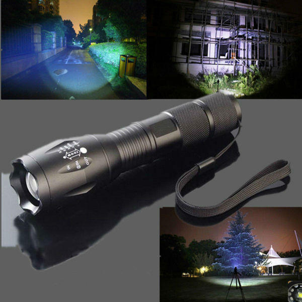 MECO 5 Modes 2000LM Zoomable LED Flashlight 18650/AAA