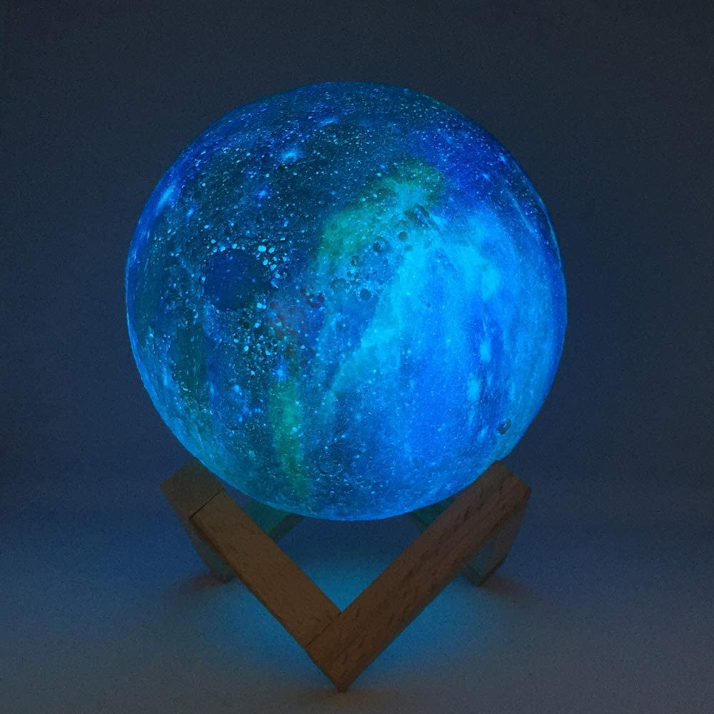3D Printing Moon Lamp Galaxy Moon Light - Moon Lamp - Kids Night Light