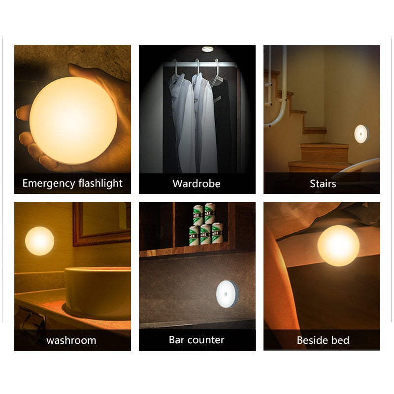 LED Motion Sensor Auto Wireless Wall Lamp 8