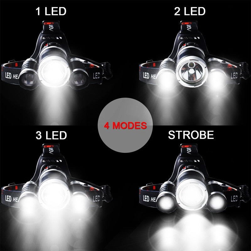 LED Hard Headlight Battery Car Wall Charger - Headlight Charger - Headlamp
