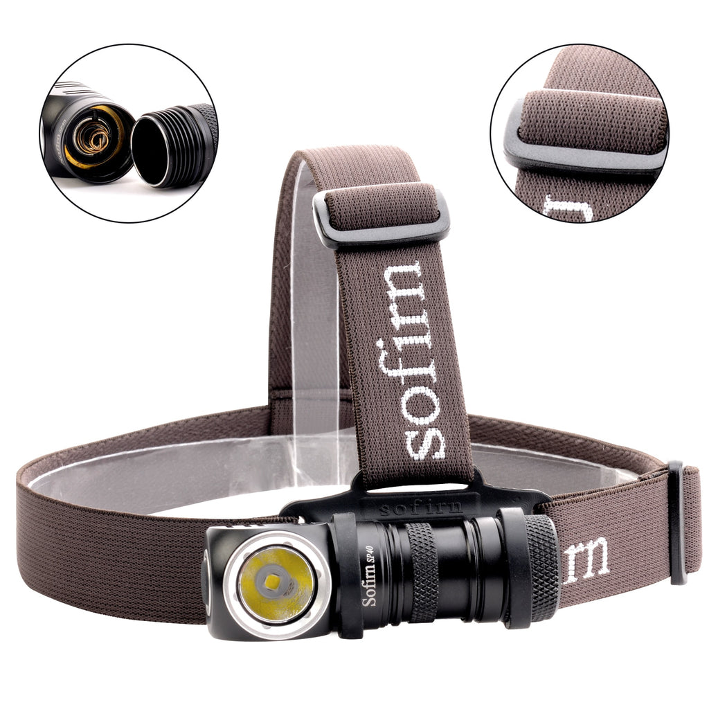 SP40 LED Headlamp with Power Indicator Magnet Tail