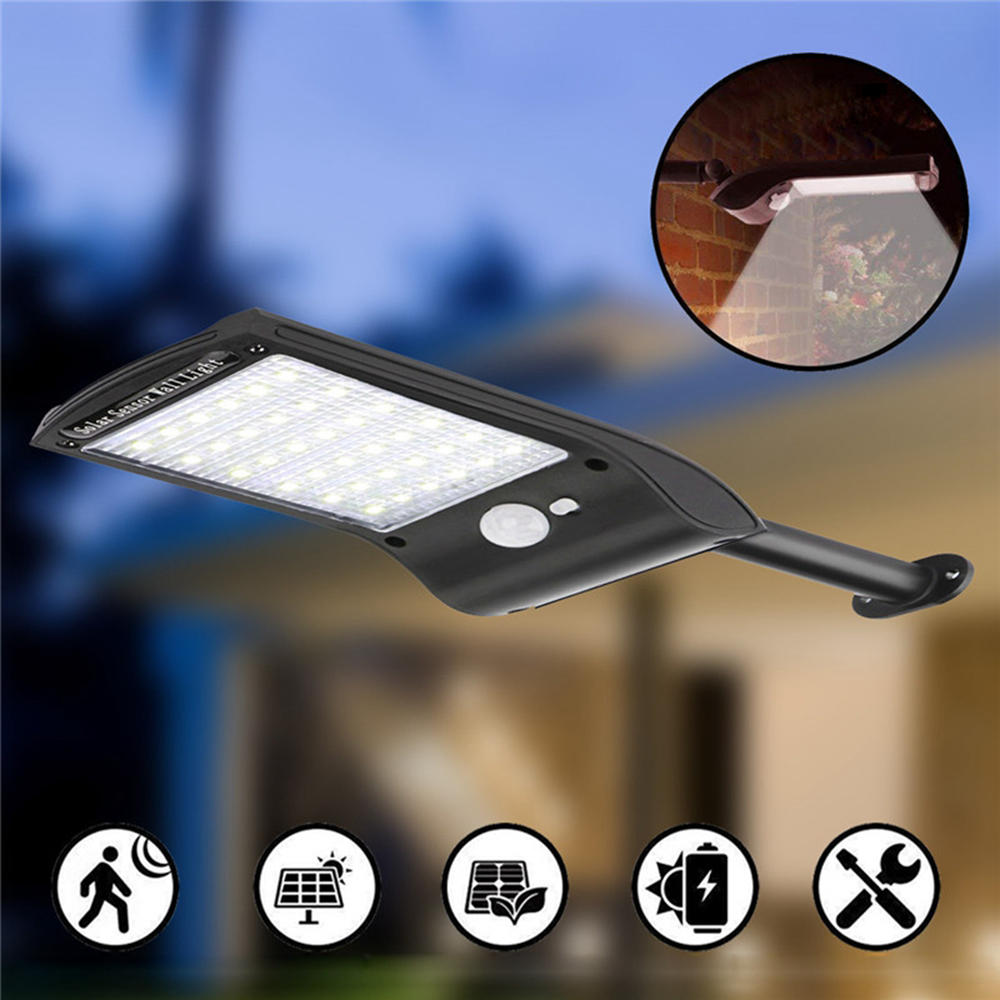 Solar Powered PIR Motion Sensor Security Street Light