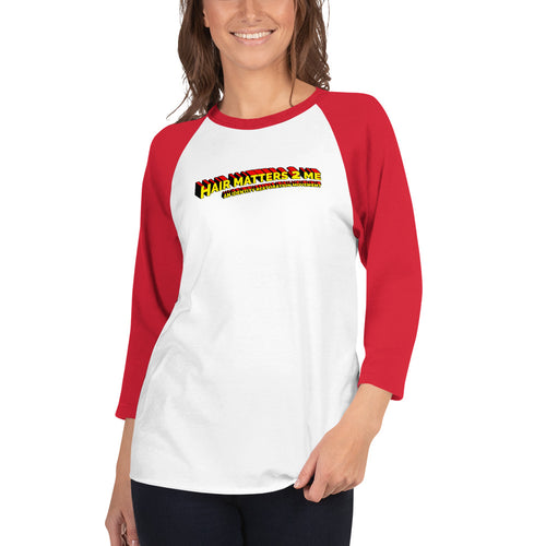 Ladies' 3/4 Sleeve Raglan Superhero Shirt