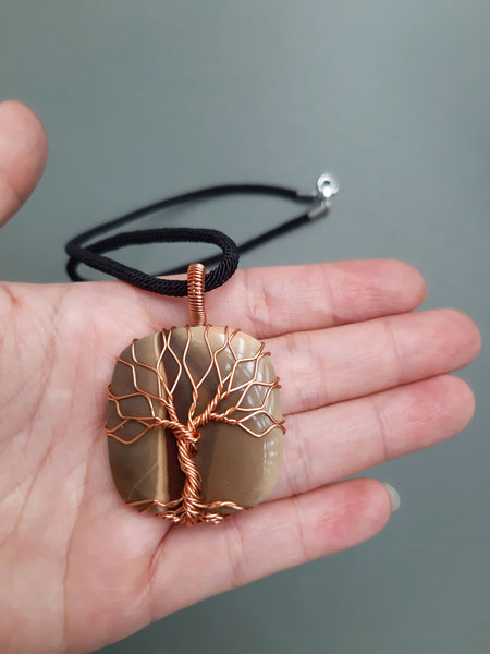 Imperial Jasper Tree Of Life Necklace