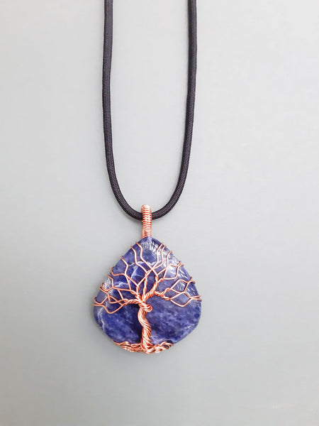 Sodalite Tree Of Life Necklace