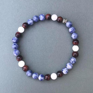 Agate and Tiger's Eye Beaded Bracelet