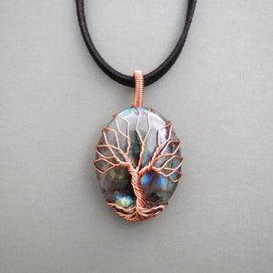 Labradorite Tree Of Life Necklace