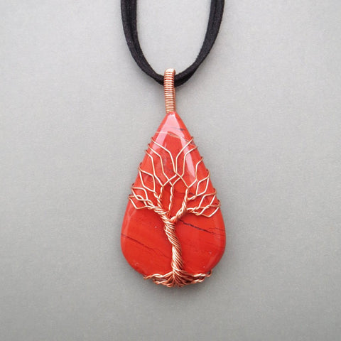 Red Jasper Tree Of Life Necklace