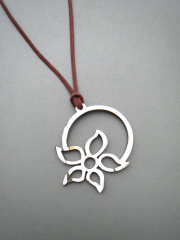 Round Floral Pendant