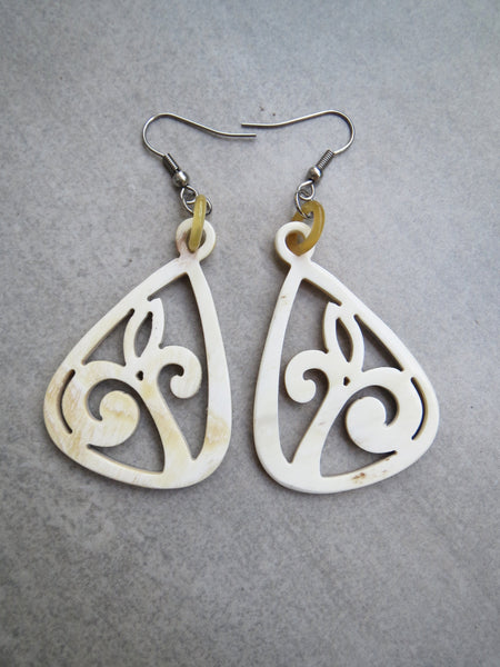 White Vintage Earrings