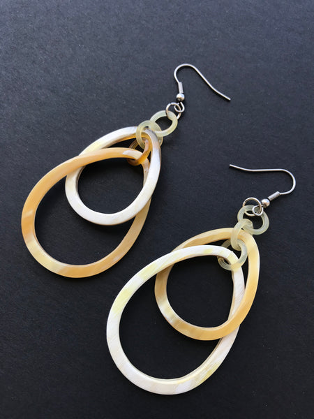 White Long Dangle Earrings