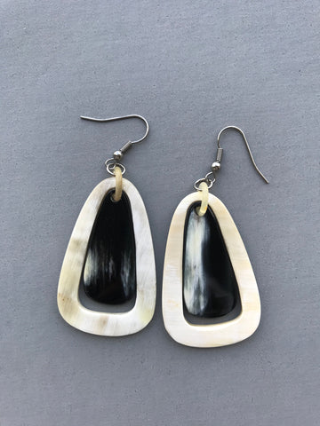 Black And White Dangle Earrings