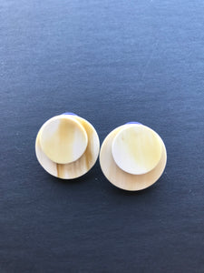 White Round Stud Earrings/ Multiple Styles in One