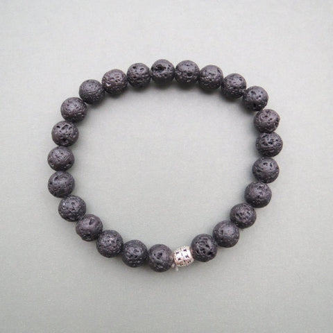 Lava Beaded Bracelet 8mm