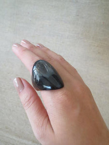 Black Chunky Ring HR-002