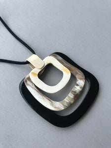 Square Pendant Necklace HPN-038