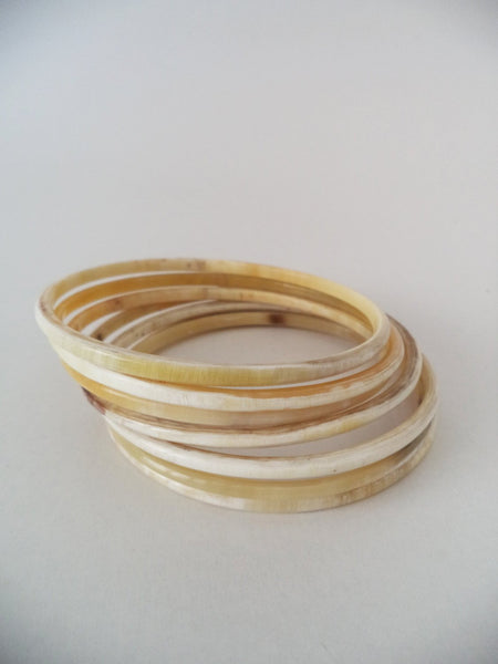 White Bangle Bracelet Set HBS7-004