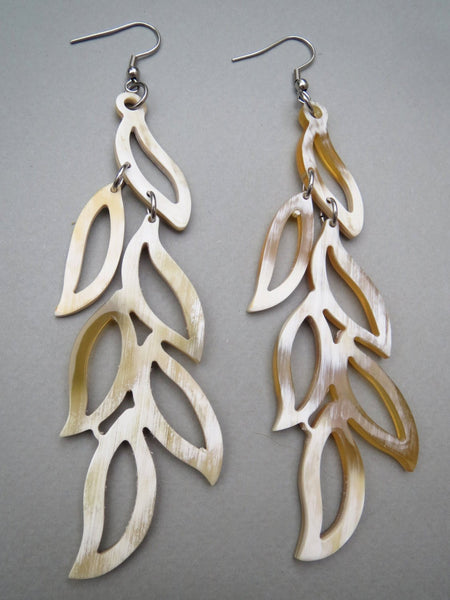 Long Dangling Leaves Earrings