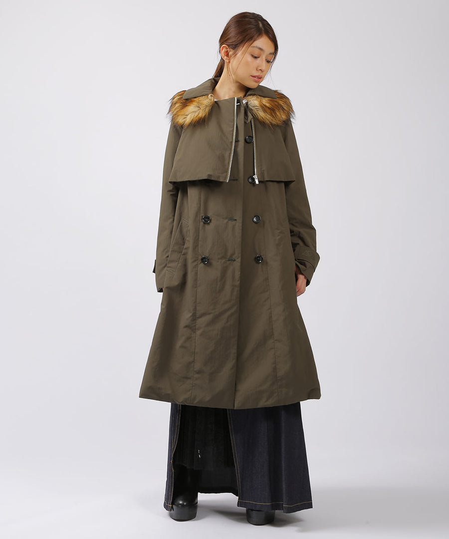 EZUMi ECO FUR DOWN TRENCH COAT:CMALYW0901