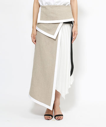 Reservation product | A linen pleated skirt: YESS21SK01