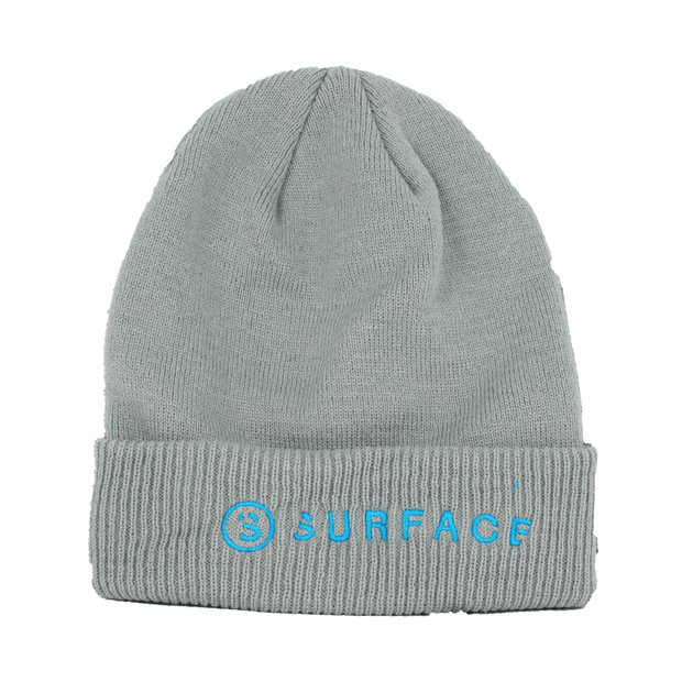Side by Side Embroidered Beanie - Gray