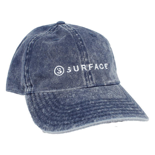 Side by Side Embroidered Hat - Navy