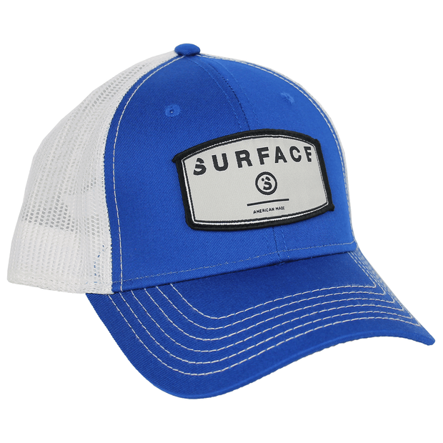 Patch Trucker - Royal/ White