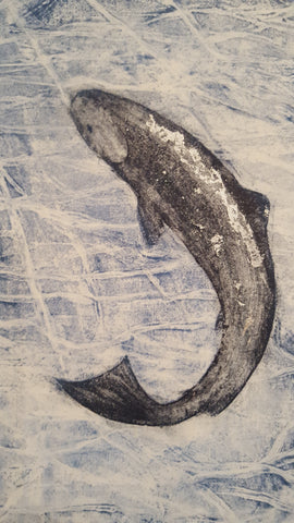The Salmon of Knowledge Collagraph