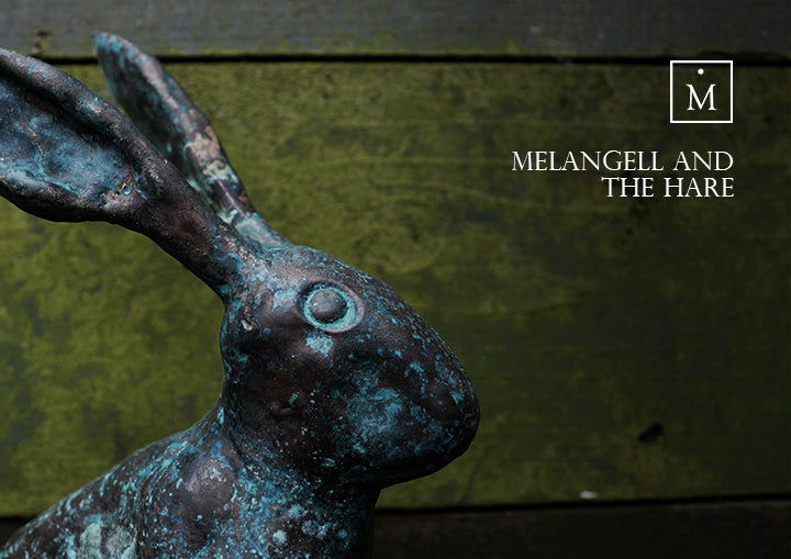 Melangell and The Hare Bronze sculpture by Charlie Mallon