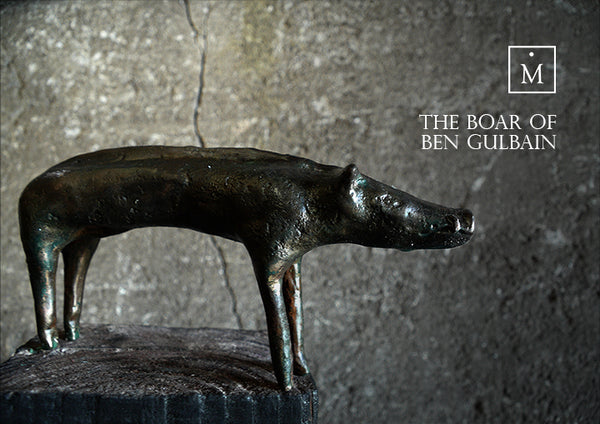 The Boar of Ben Gulbain Bronze Sculpture by Charlie Mallon