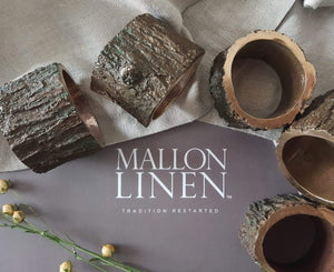 Set of 4 Bronze napkin rings and Irish Linen napkins - Mallon Ireland