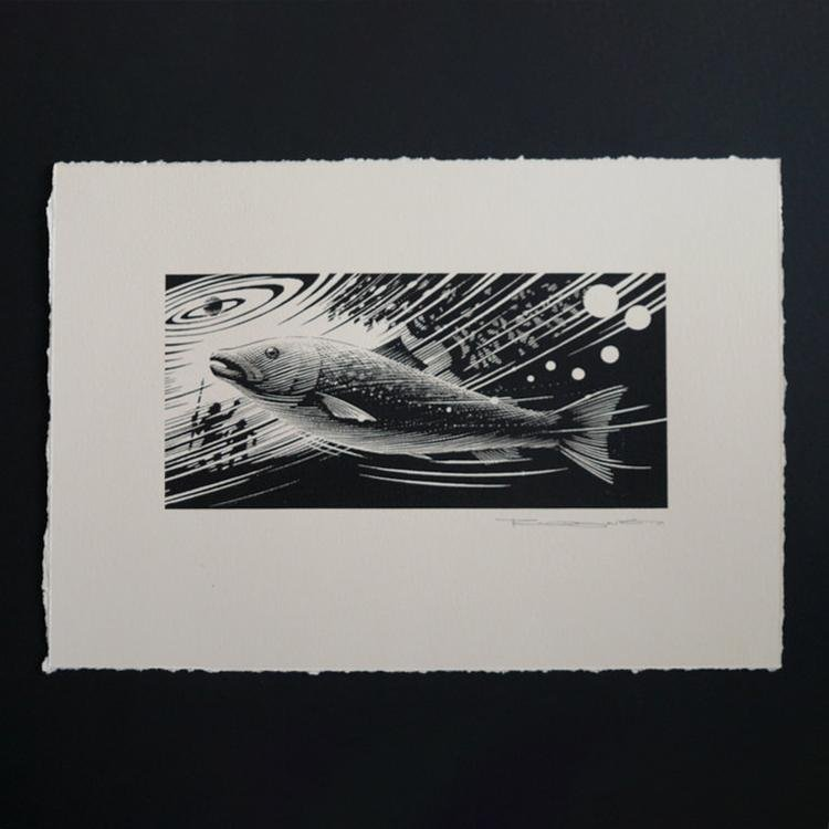 The Salmon of Knowledge Unframed - Mallon Ireland