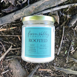 """Rooted"" Candle, 9 oz."