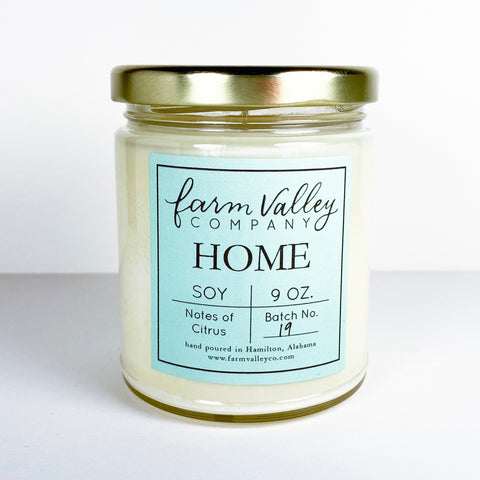 """Home"" Candle, 9 oz."