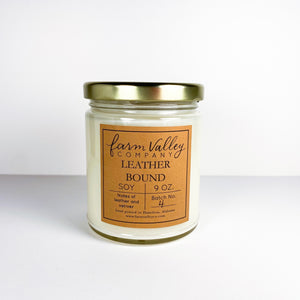 """Leather Bound"" Candle, 9 oz."