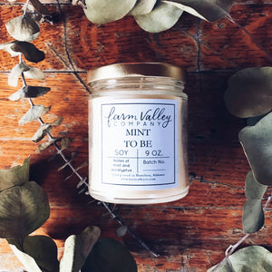 """Mint to Be"" Candle, 9oz"