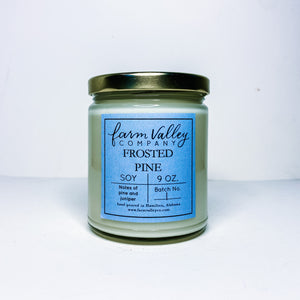 """Frosted Pine"" Candle, 9 Oz."