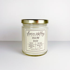 """Snow Day"" Candle, 9 oz."