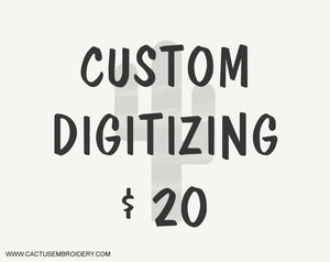 Custom Digitizing, Your logo digitized $20